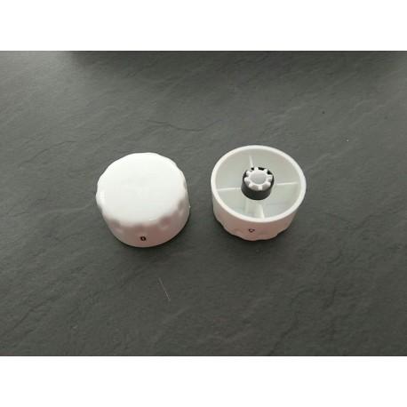 Mando con marcas gas sm/ec blanco cocina Teka