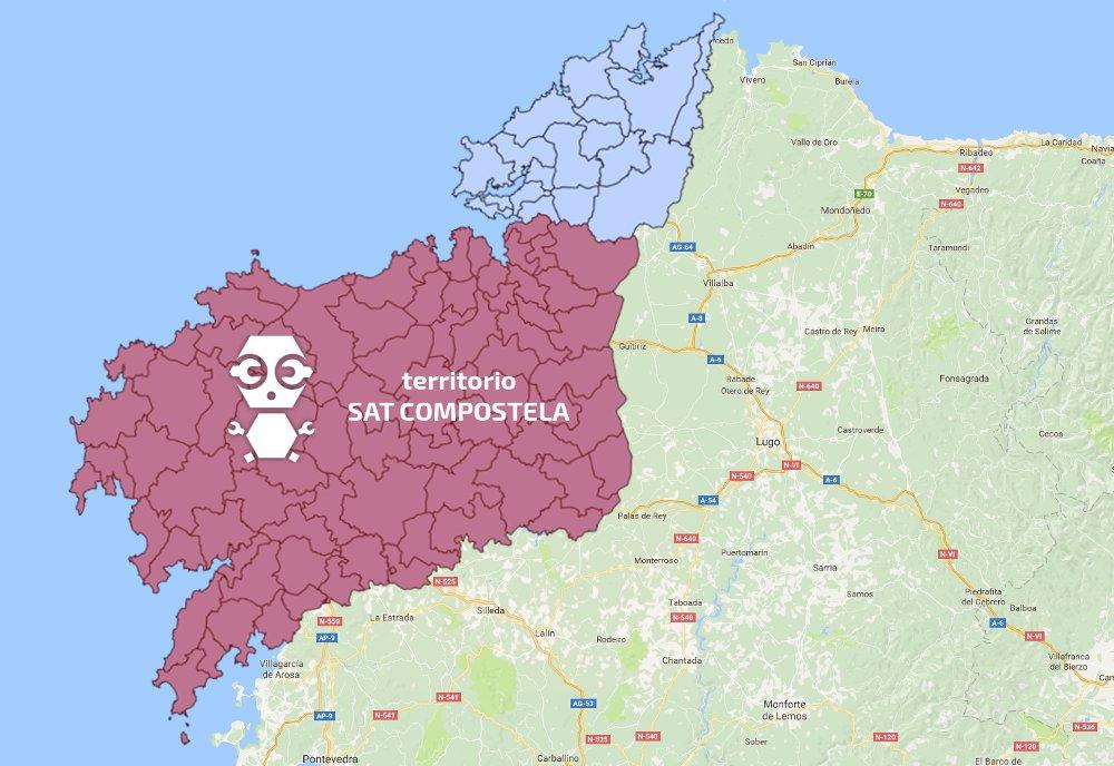 Localidades donde realizamos reparaciones a domicilio en Santiago y Zonas Centro y Sur de la Provincia de A Coruña