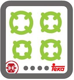 Localización del número de serie y placa identificadora de cocinas de gas y electricas Teka