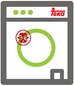 Localizar la placa de identificación en una lavadora Teka